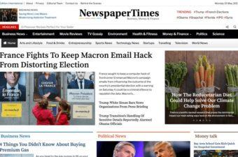 NewspaperTimes WordPress Theme for News Websites