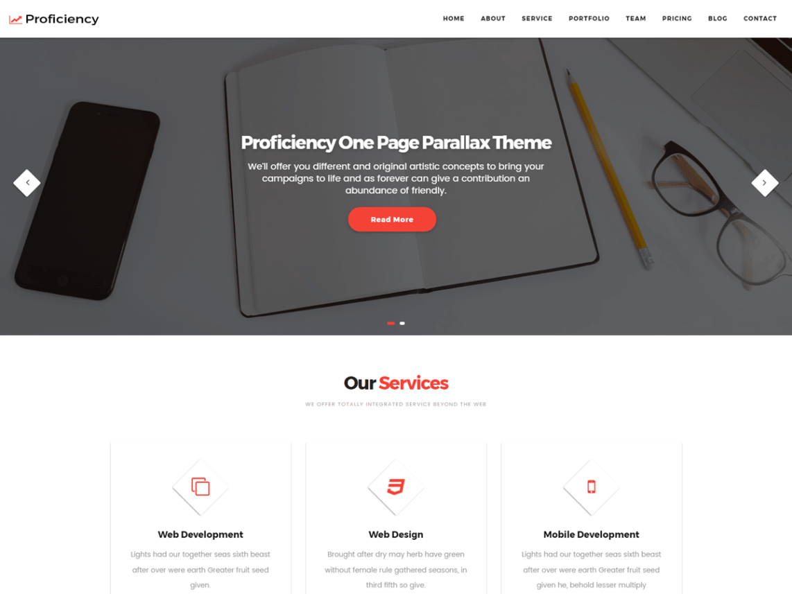 Proficiency Free WordPress Business Theme