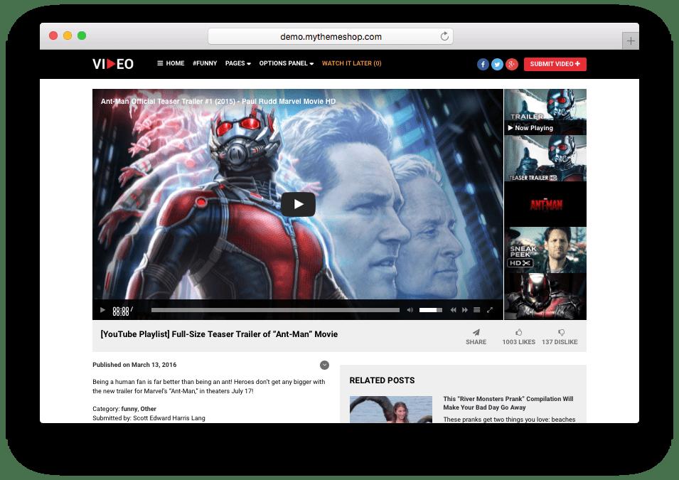 Video WordPress Theme by MyThemeShop