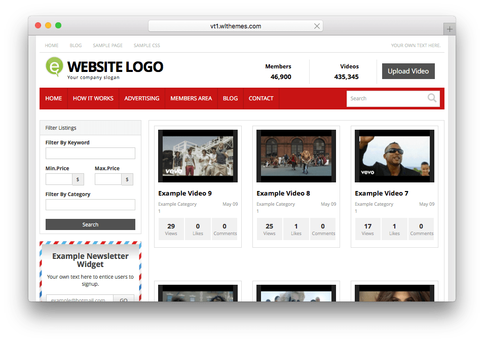 Video WordPress Video Community Theme