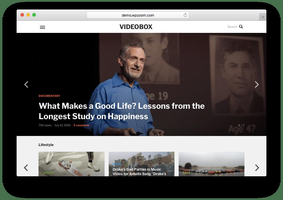 VideoBox WordPress Video Embeds Theme