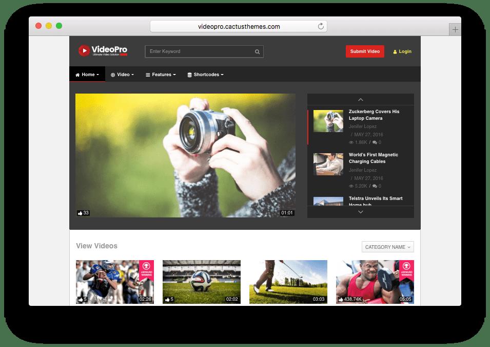 VideoPro Video Theme like YouTube, Vimeo, Twitch