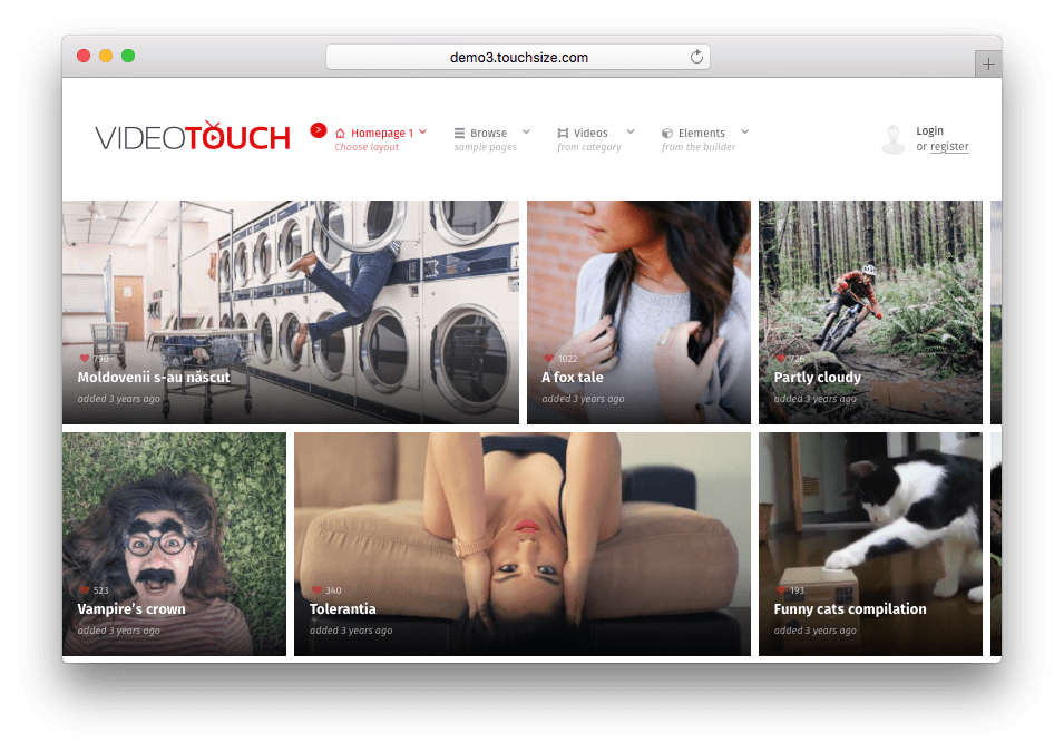 VideoTouch WordPress Theme