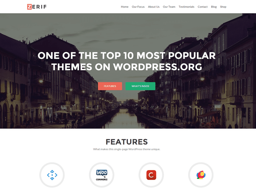 Zerif Lite Free One Page Business Theme