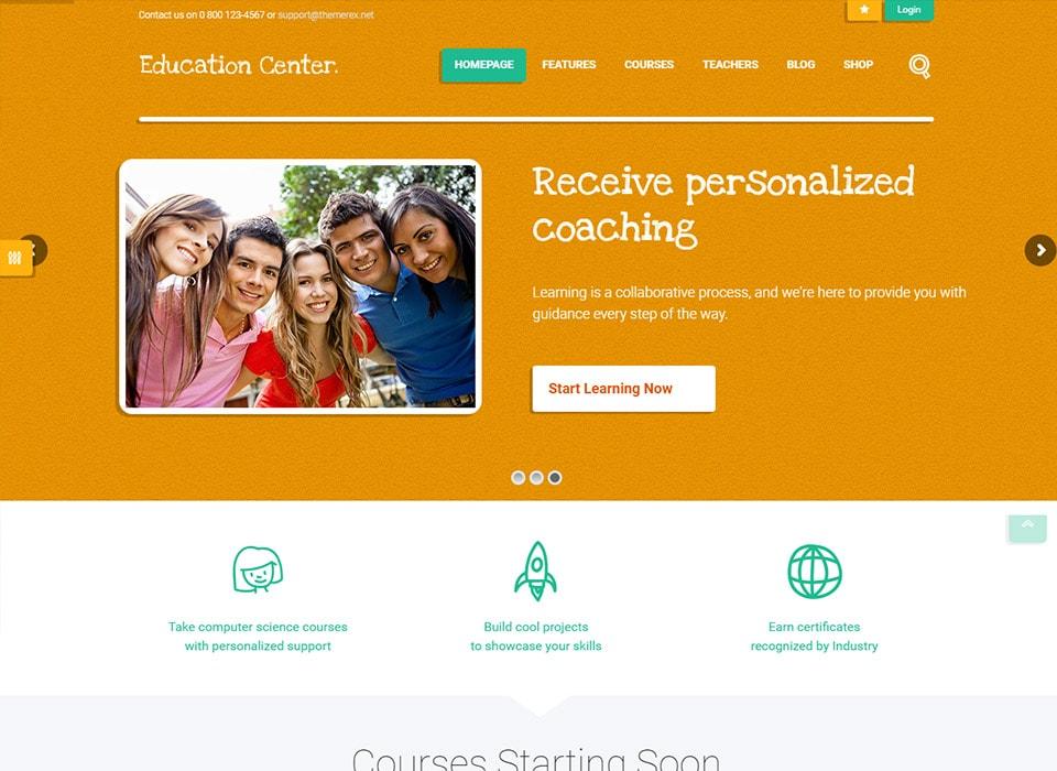 Education Center WordPress Theme