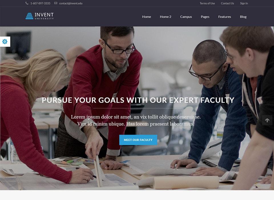 Invent WordPress Education Theme