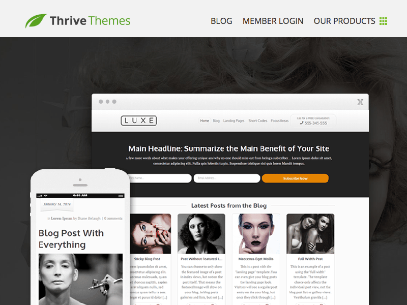 Luxe WordPress Theme by Thrive Themes