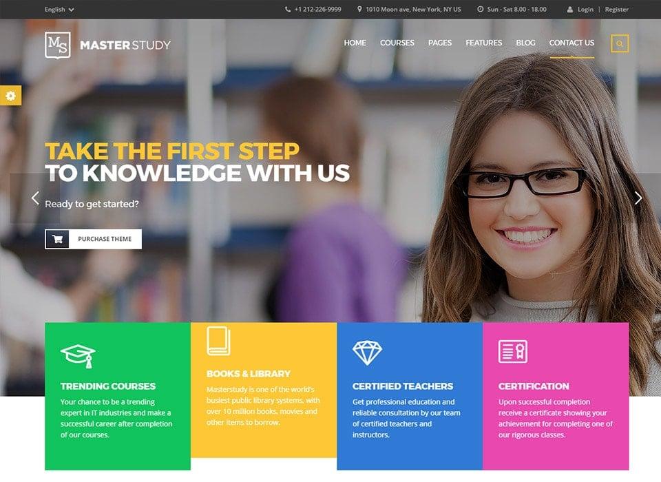 Masterstudy WordPress Professional Education Theme