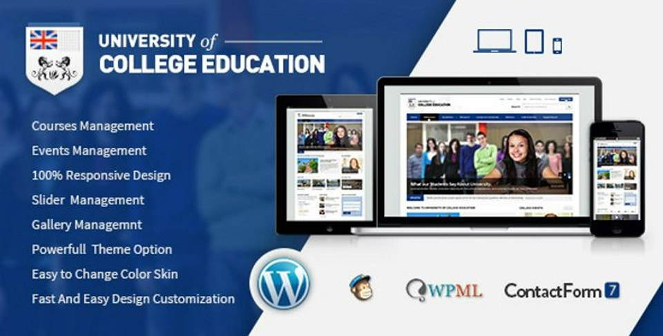 UOCE WordPress College Education Theme
