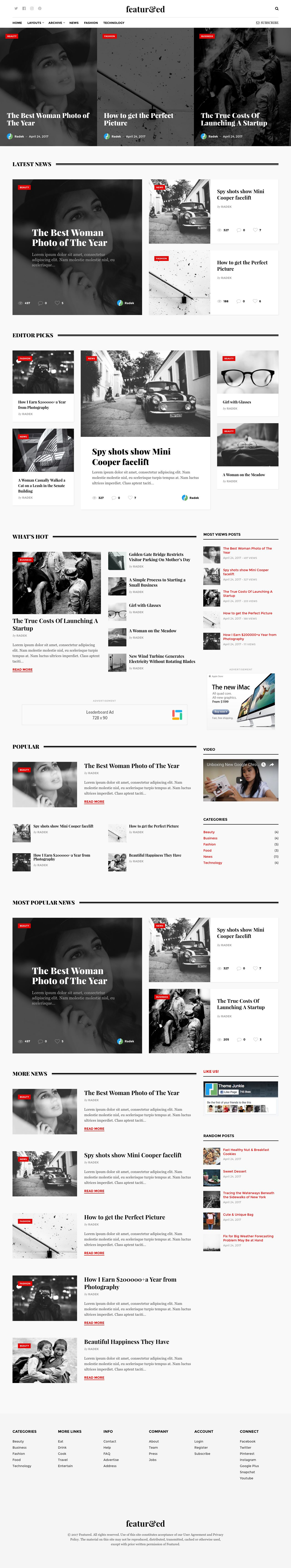 Featured WordPress Theme for Publication