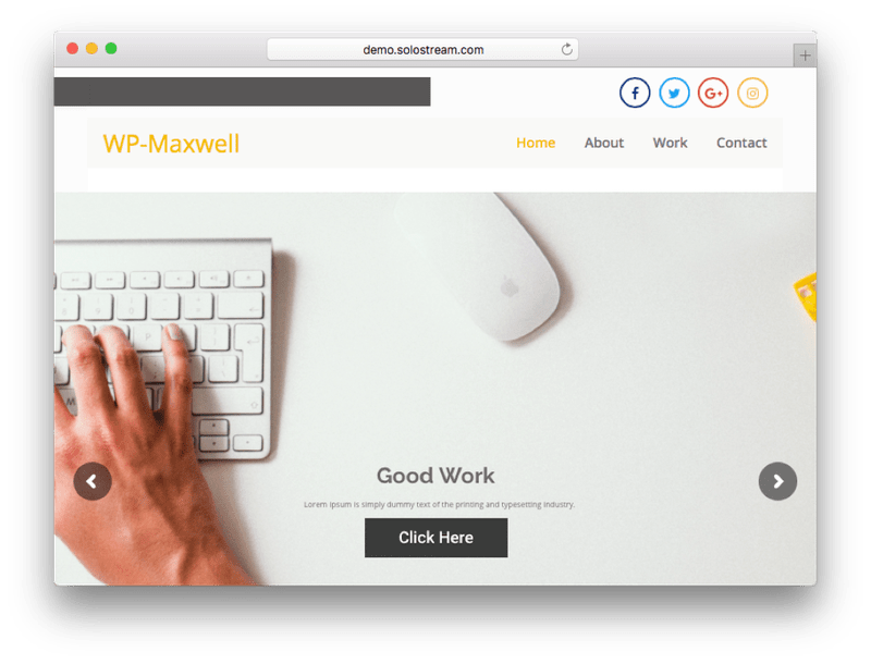 WP-Maxwell Small Business WordPress Theme