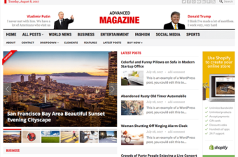Advanced Magazine WordPress Theme for Publishing News