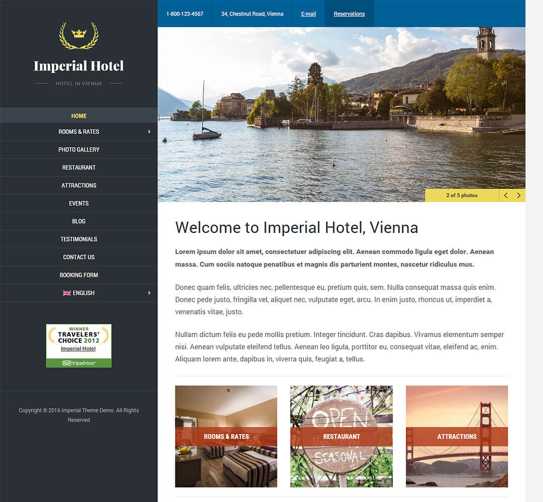 Imperial Hotel Business WordPress Theme
