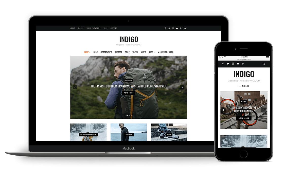 Indigo WordPress Theme for Magazine