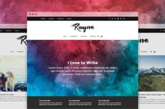 Rayne WordPress Theme for Minimal Blog Design
