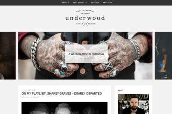 Underwood WordPress Theme for Personal Bloggers!