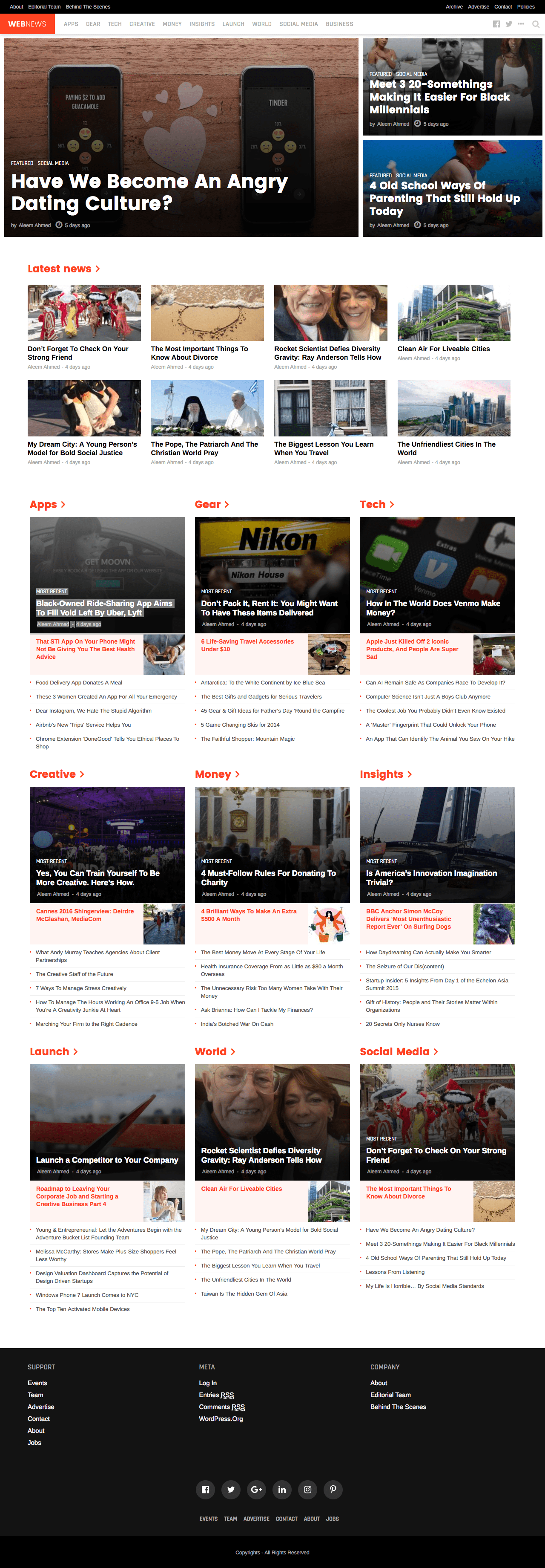 WebNews WordPress Theme