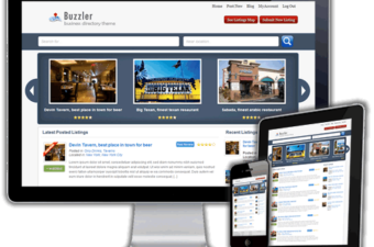 Buzzler WordPress Theme for Geo Map Business Directory
