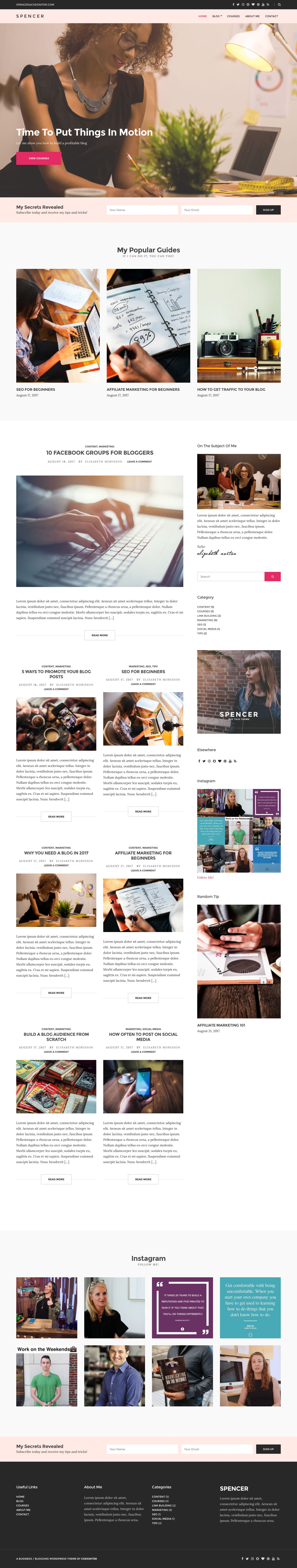 Spencer WordPress Entrepreneurs Theme