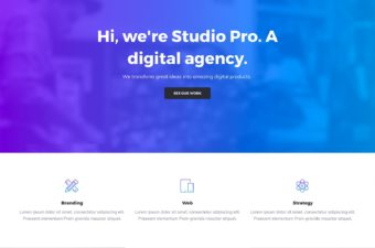 Studio Pro WordPress Theme for Creative Agency